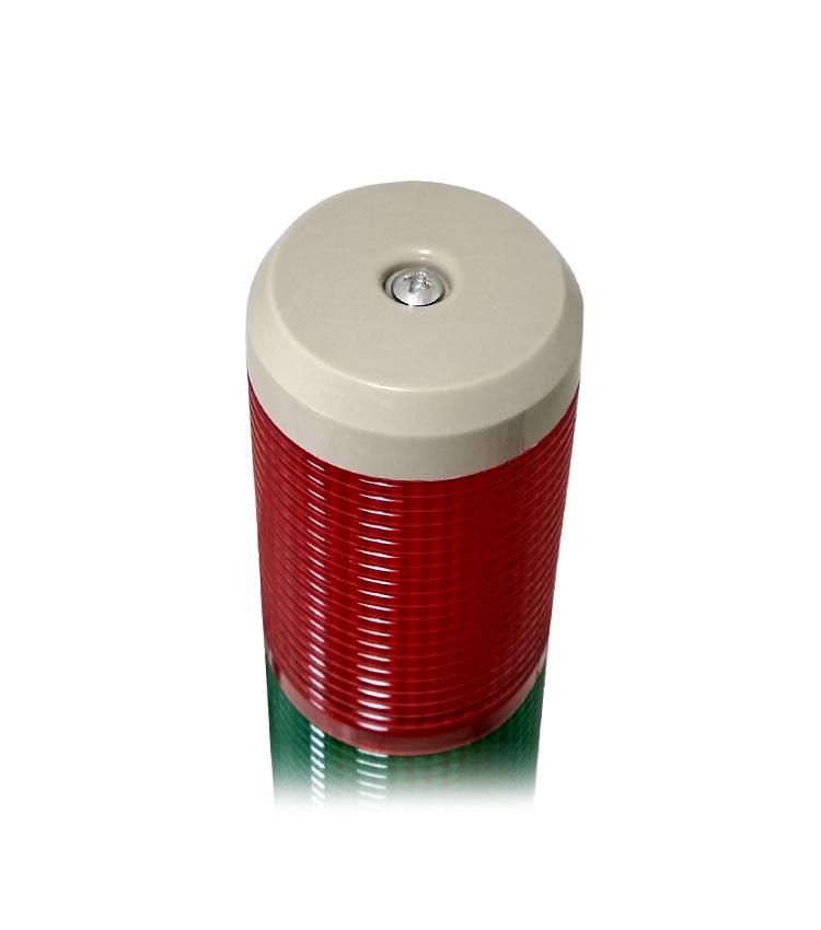 Torre Luminosa LTA5052 90~260Vca - LED com 2 cores - Sinalização Contínua ou Intermitente + Alarme Sonoro