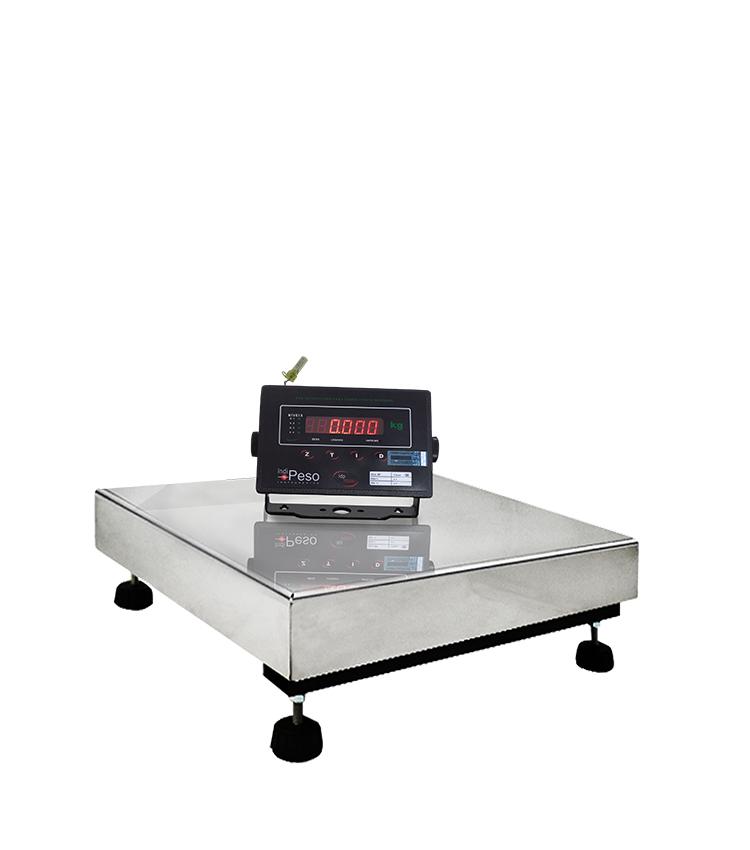 Balança de Piso Standard BP-200PS.4040.AI - Capacidade 200Kg(50g) - Plataforma 40x40cm - Sem Coluna - Material Aço - Bandeja Inox