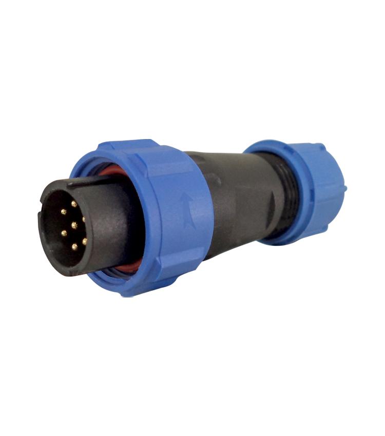 Conector Circular SP1310 Macho Pendente com 7 Vias IP68 - Com capa de  proteção - À prova d´água *** (10984)